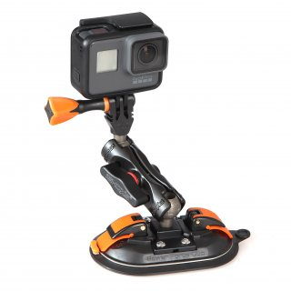 iSHOXS Power Force Cup SE - Suction Cup Small Grab Edition inklusive Small Grab Pro 40, GoPro kompatibel